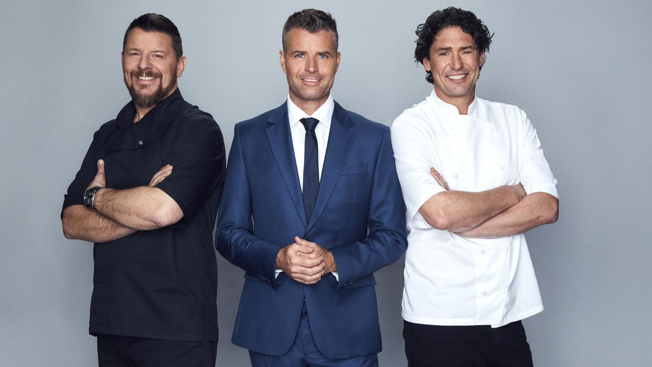 MKR: The Rivals stars: Manu Feildel, Pete Evans and. Colin Fassnidge