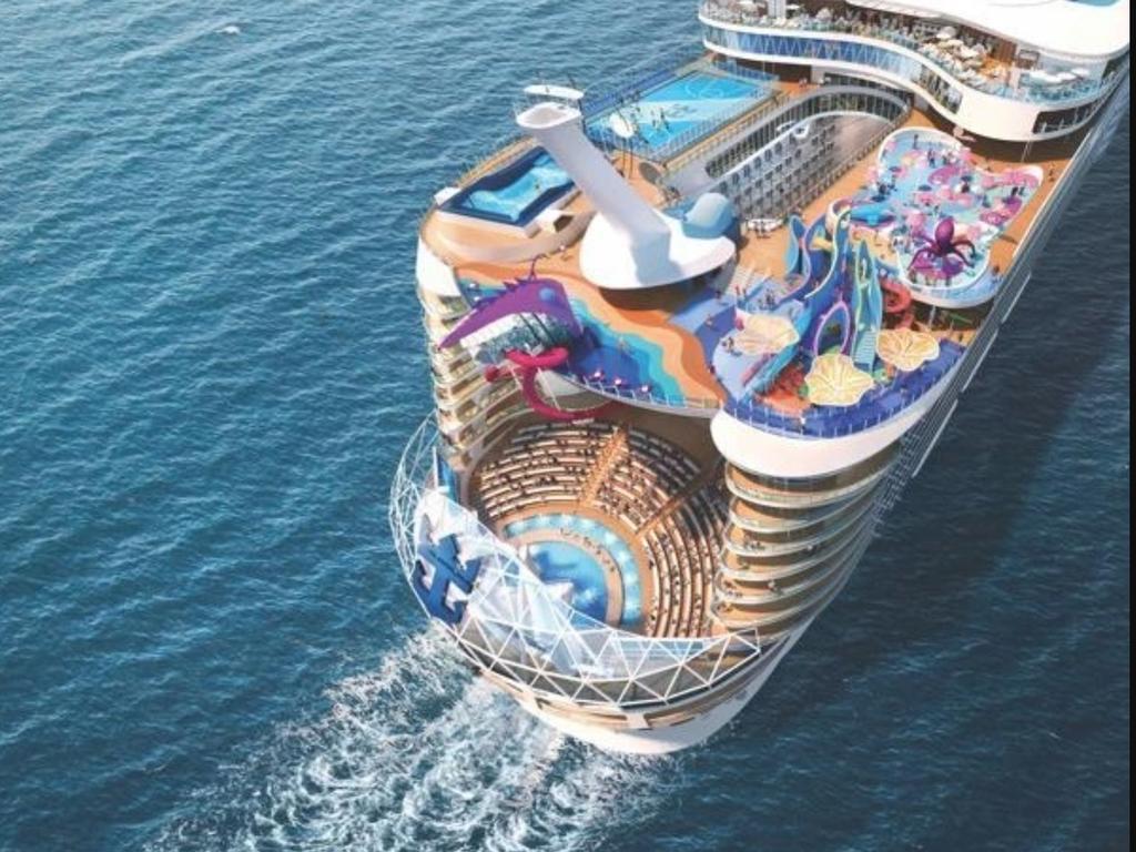 The ship has a 10-floor zipline. Picture: Royal Caribbean