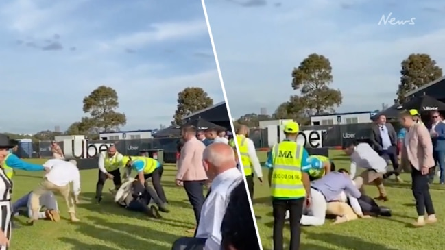 Brawl at Flemington on Melbourne Cup Day 2019