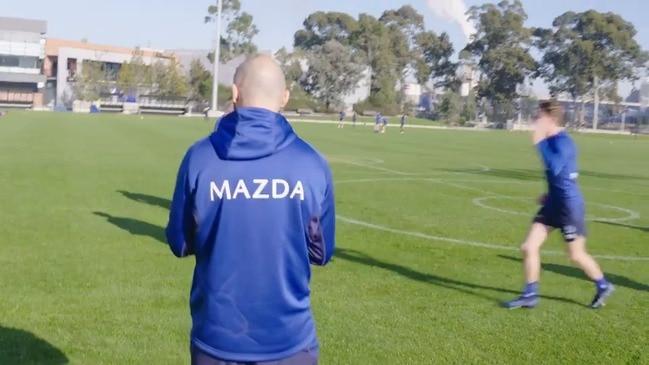 North Melbourne coach Rhyce Shaw at training