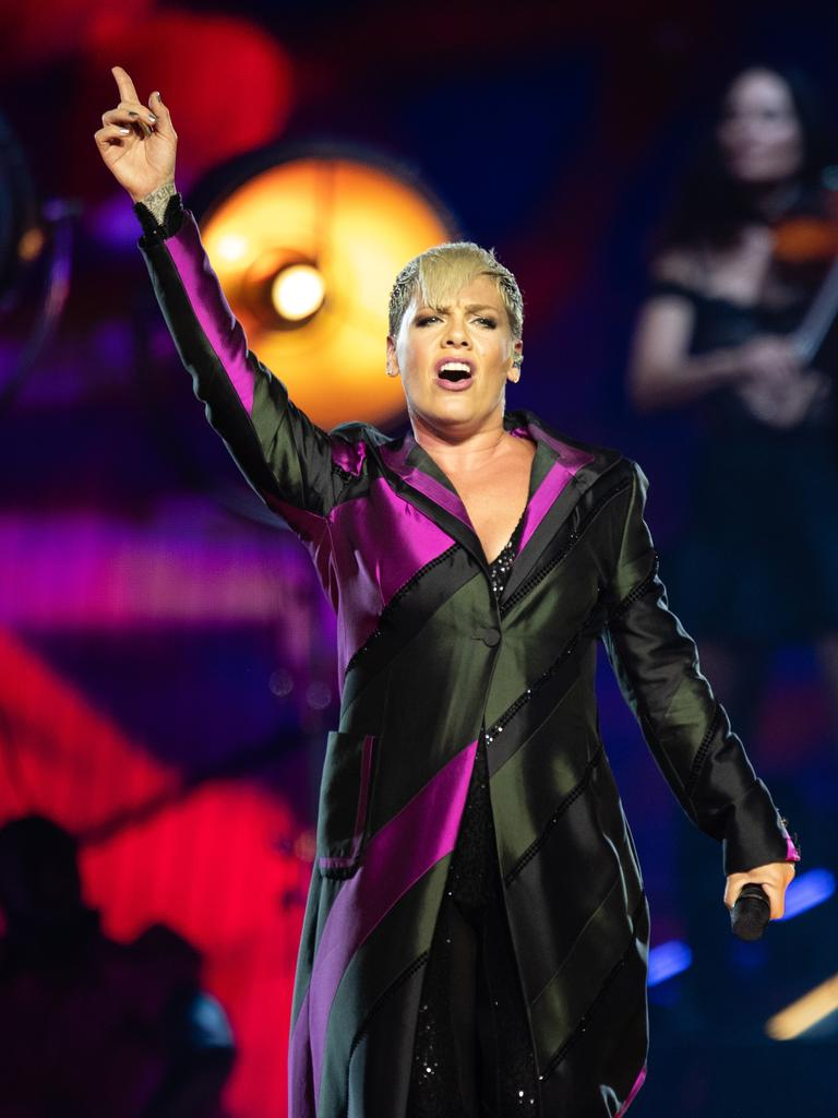 Pink will perform in Perth, Adelaide, Melbourne, Sydney and Brisbane during a 35-date Australian tour. Picture: AAP/Richard Wainwright