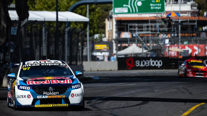 ADELAIDE, AUSTRALIA - FEBRUARY 22: (EDITORS NOTE: A polarizing filter was used for this image.) Shane van Gisbergen drives the #97 Red Bull Holden Racing Team Holden Commodore ZB during race two of round 1 of the 2020 Supercars Championship the Adelaide 500 on February 22, 2020 in Adelaide, Australia. (Photo by Daniel Kalisz/Getty Images)