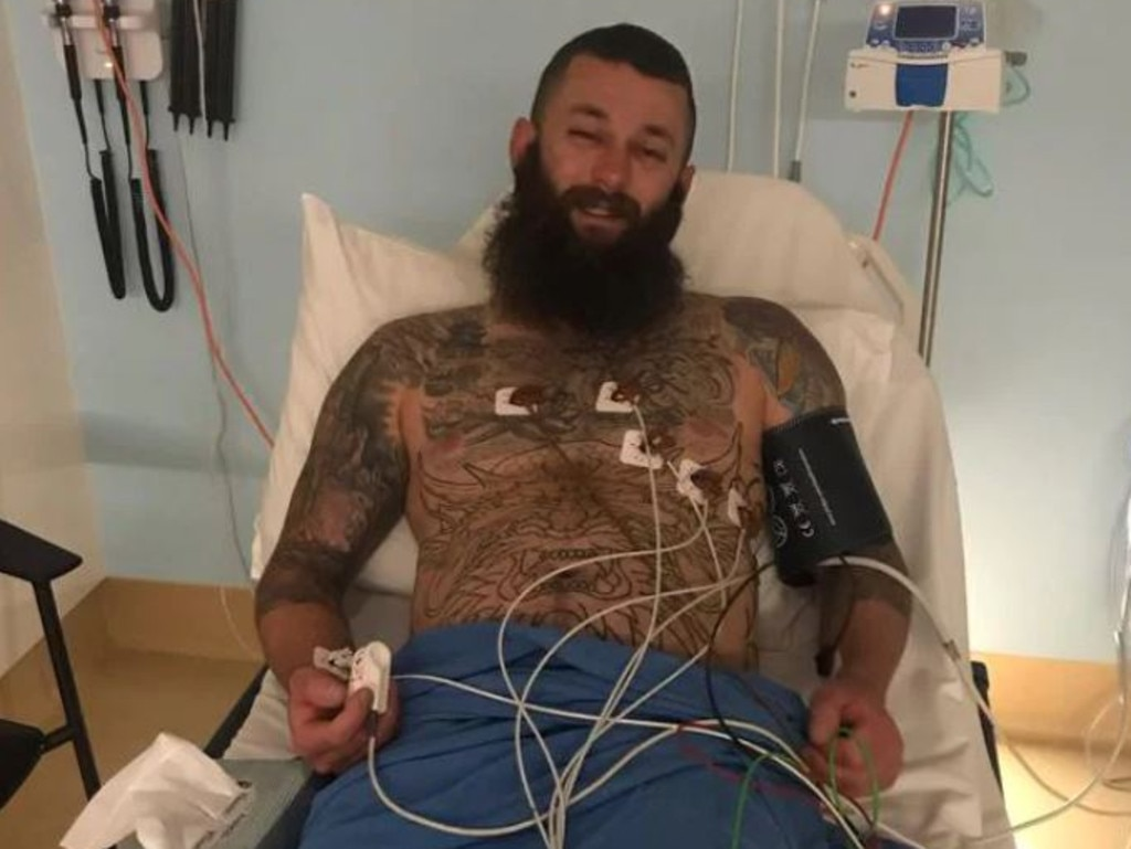 Kyle Goodwin in hospital after a breathing incident.