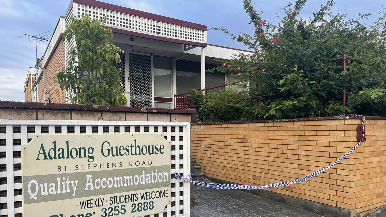 Adalong Guesthouse in South Brisbane amid fears of another infection in the community.