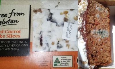Mouldy Woolworths cake leaves customers sick