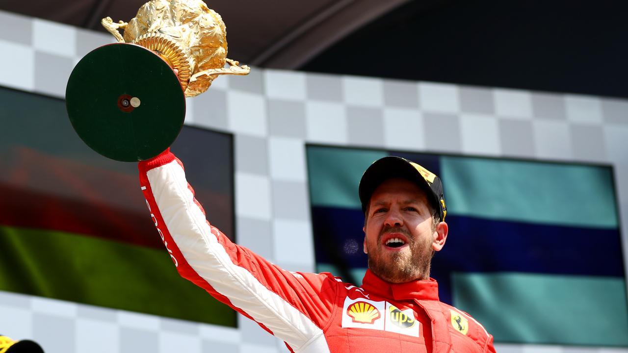 Sebastian Vettel won the Formula 1 British Grand Prix at Silverstone.