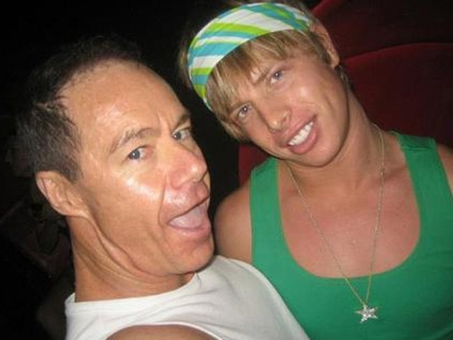 Michael Atkins and Matthew Leveson (above) during their relationship which ended when the 20-year-old disappeared in 2007.