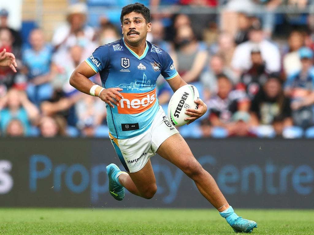 Peachey played his last game for the Titans in this year's elimination final loss to the Roosters. Picture: Chris Hyde/Getty Images