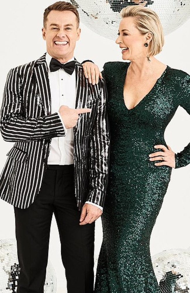 Grant Denyer and Amanda Keller were hosts of the show. Picture: Channel 10