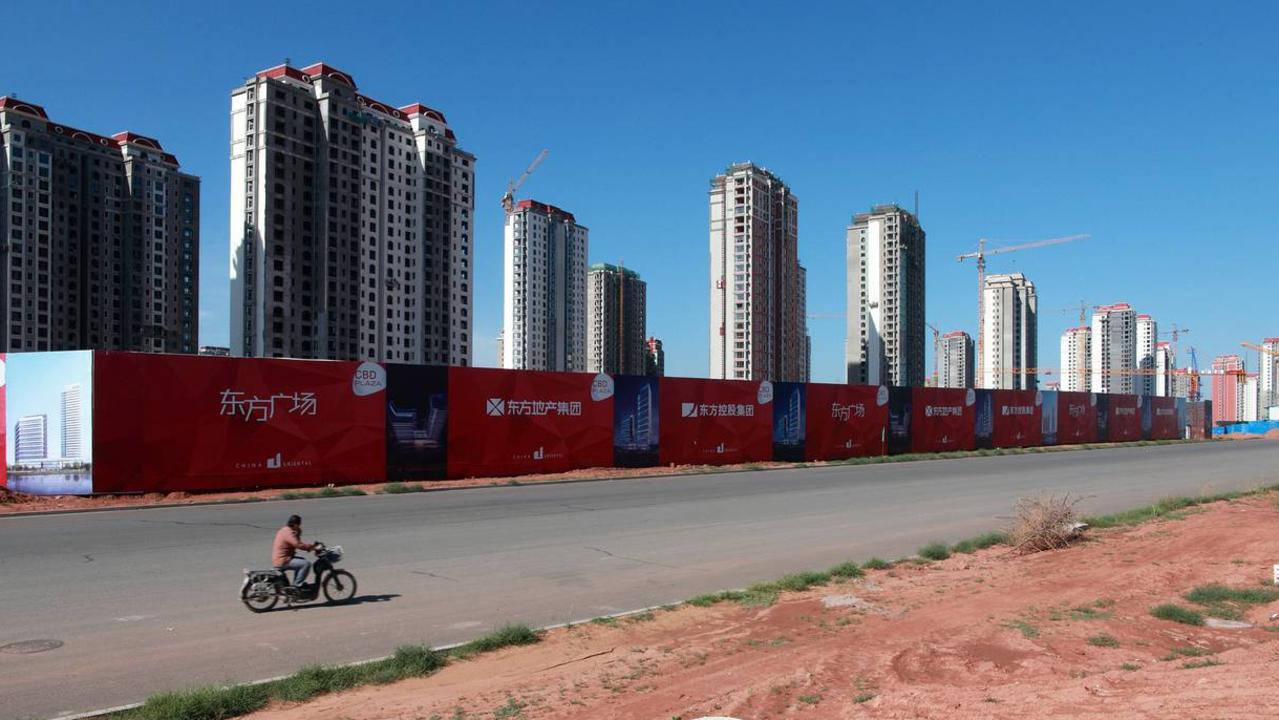 Virtually empty apartments in the new Kangbashi area in 2011. Picture: Corbis/Getty