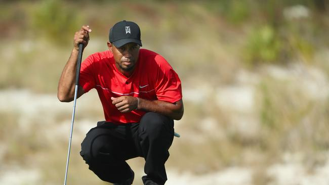 Tiger Woods during the Hero World Challenge at Albany, The Bahamas last month.