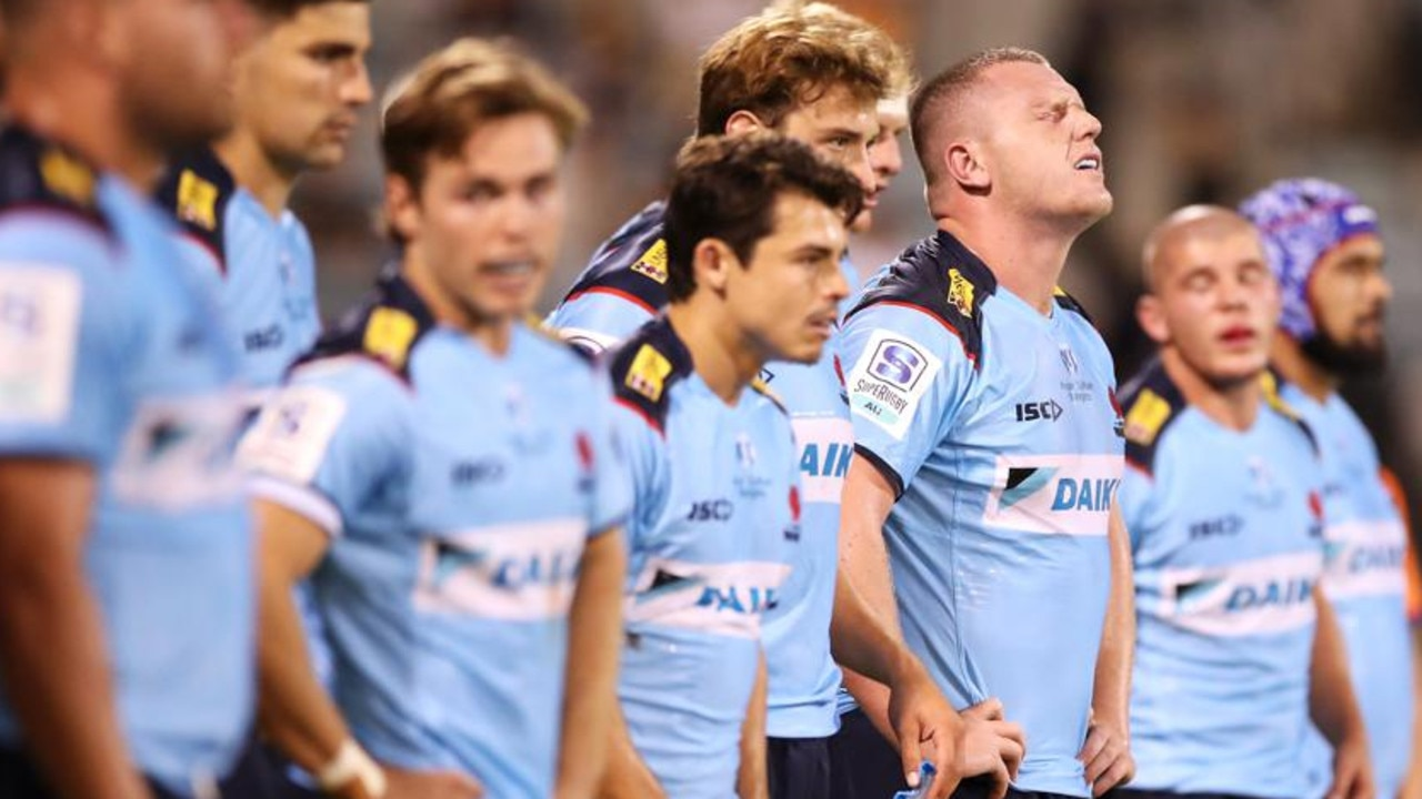 The Waratahs are on the search for a new coach. (Photo by Mark Kolbe/Getty Images)