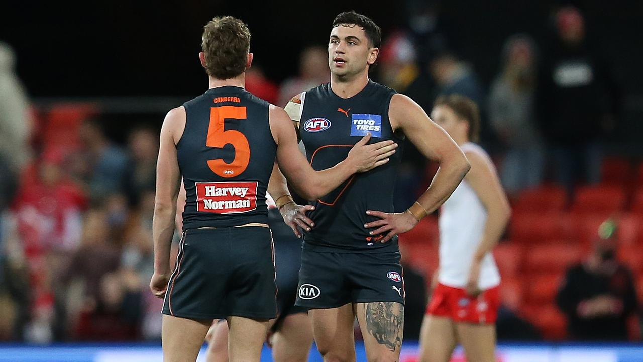 The Giants have been one of the sides hardest-hit by Covid restrictions and changes this year. (Photo by Jono Searle/AFL Photos/via Getty Images)