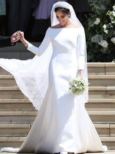 Meghan Markle stuns in her wedding gown. Picture: MEGA