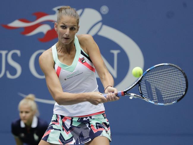 Karolina Pliskova, went with a geometric design for the 2017 US Open.