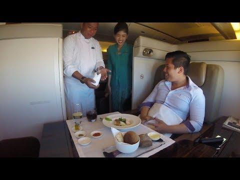 $18,000 First Class Trip of a Lifetime ... Using Air Miles. Credit - Sam Huang via Storyful