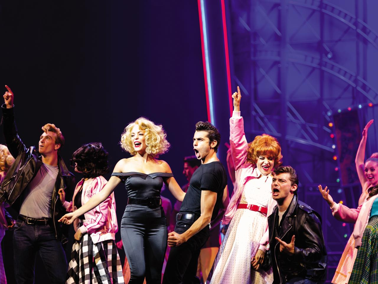 ESCAPE: Cruise cover story, Christine Retschlag, Oct 1 - HM, Harmony of the Seas, Broadway show, Grease, actors, acting, stage, theater, theatre, singing, singers, drama, costumes, dancers, performer, performance. Picture: Supplied/Royal Caribbean
