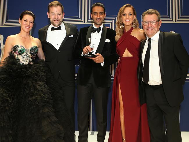 Best News Program or Current Affairs Program: The Project. Co-hosts Gorgi Coghlan, Anthony Lehmann, Waleed Aly, Carrie Bickmore and Steve Price. Picture: Julie Kiriacoudis