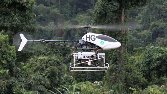 Drone helicopters to save rainforests