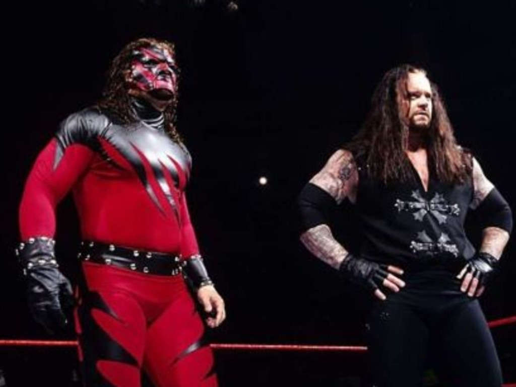 Kane and The Undertaker were two iconic WWE superstars. Picture: WWE