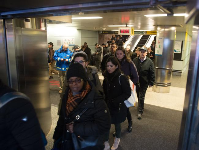 The station is a major commuter hub and is just minutes from Times Square. Picture: AFP/Bryan R Smith