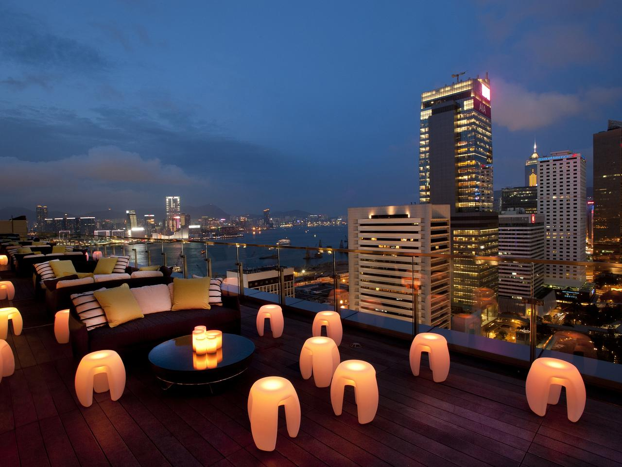 Glow chairs on the Terrace at Sevva. Picture: Supplied