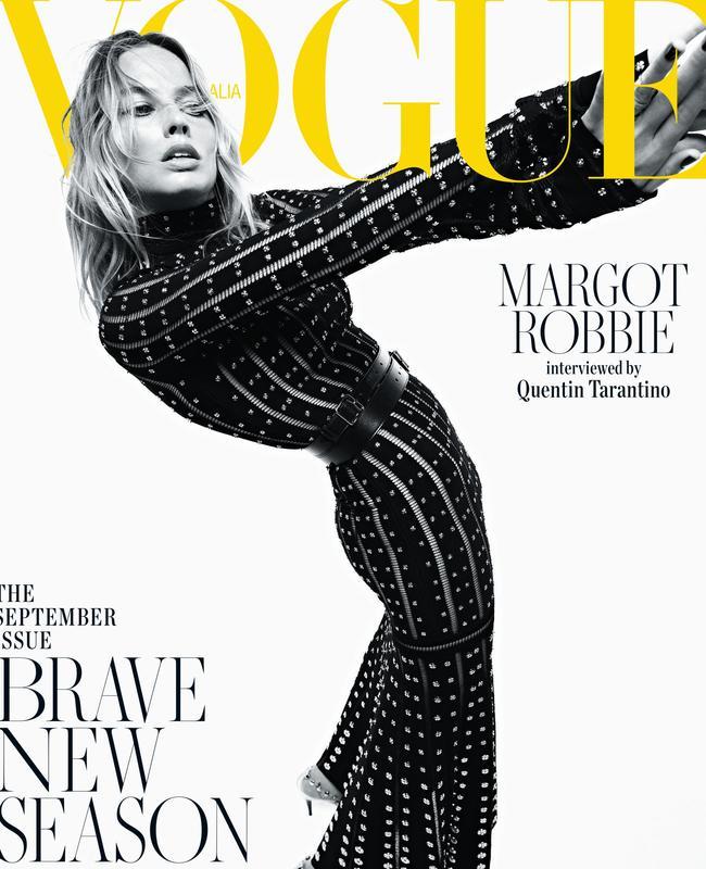 Margot covers Vogue. Picture: Mario Sorrenti for Vogue Australia