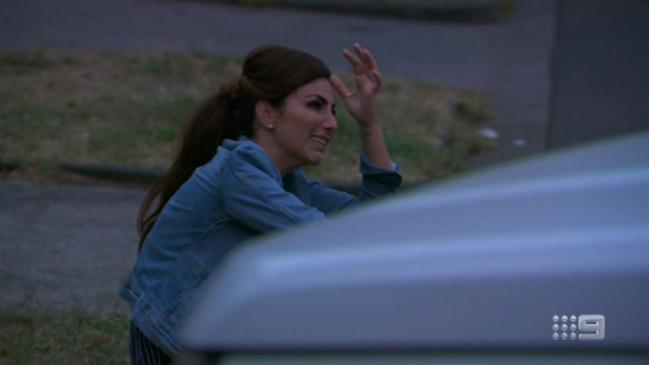 Sara walks off The Block (Channel 9)