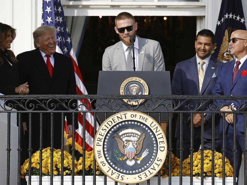 Trump sure looked like he was enjoying himself.