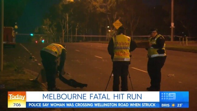 Melbourne hit and run: Woman killed and car dumped (The Today Show)