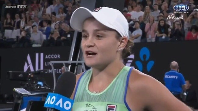Barty makes history after defeating Riske