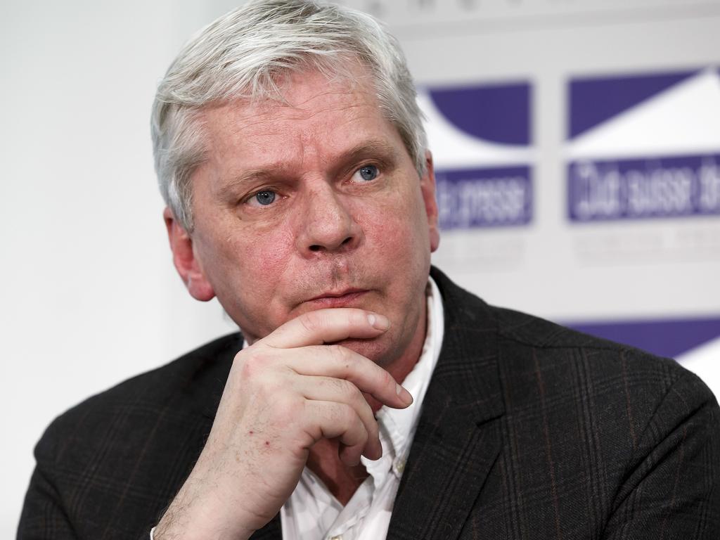 Icelandic investigative journalist Kristinn Hrafnsson will take over from Julian Assange. Picture: AP
