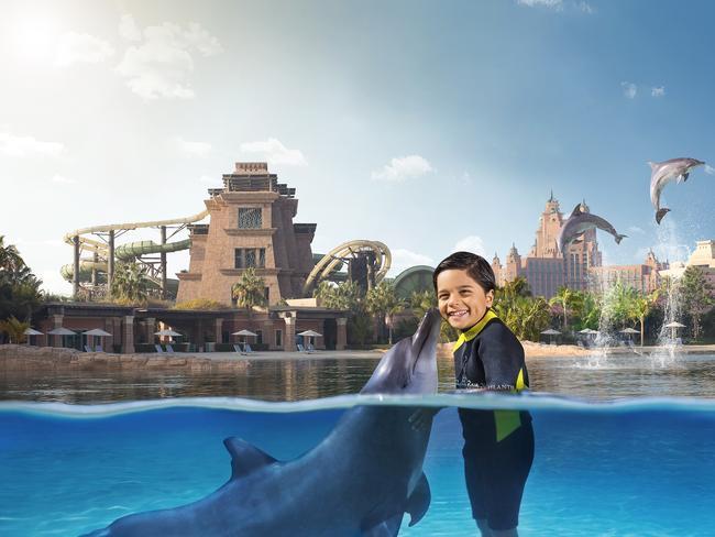 Atlantis Hotel marine and waterpark.