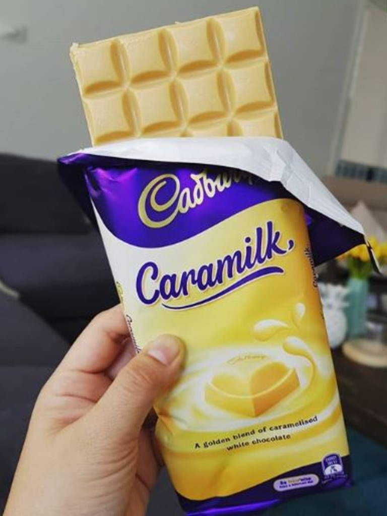 How a normal block of Caramilk looks. Picture: Instagram