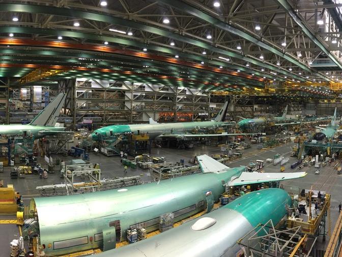 Inside Boeing's factory in Seattle