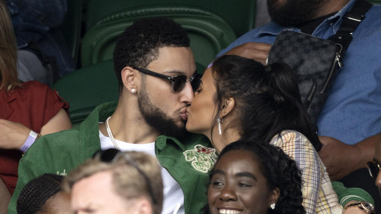 Ben Simmons went to Wimbledon with Maya Jama while the Boomers prepared for Tokyo. (Photo by Karwai Tang/WireImage)