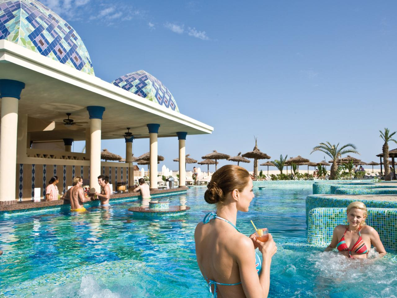 Cool off at the pool bar at the ClubHotel Rui Karamboa, Cape Verde.