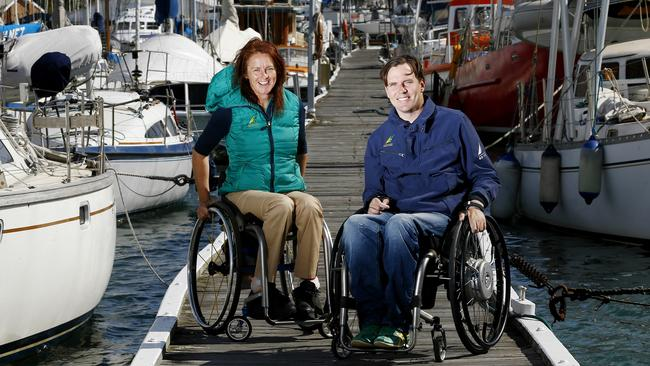 Paralympic sailors Liesl Tesch and Dan Fitzgibbons are hoping to defend their gold medal.