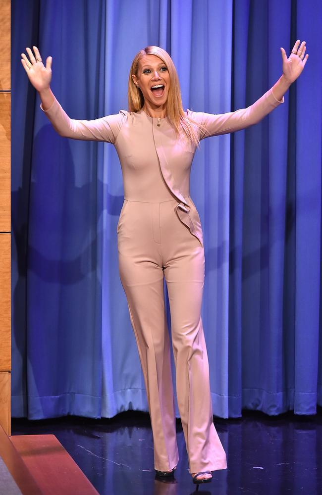 "Gwyneth Paltrow on ""The Tonight Show Starring Jimmy Fallon"" on January 14, 2015. Photo: Theo Wargo."