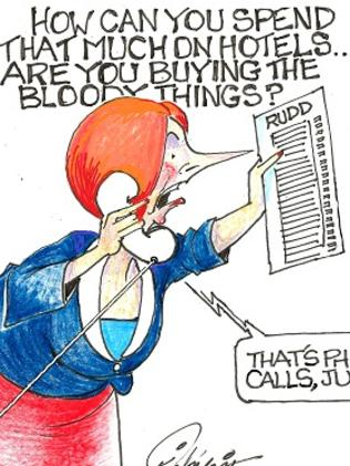 Pickering reserved special vitriol for Julia Gillard while she was prime minister. Picture: Pickering Post
