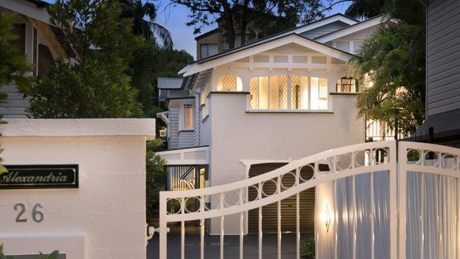 This art deco house at 26 Griffith St, New Farm, has sold. Picture: realestate.com.au.