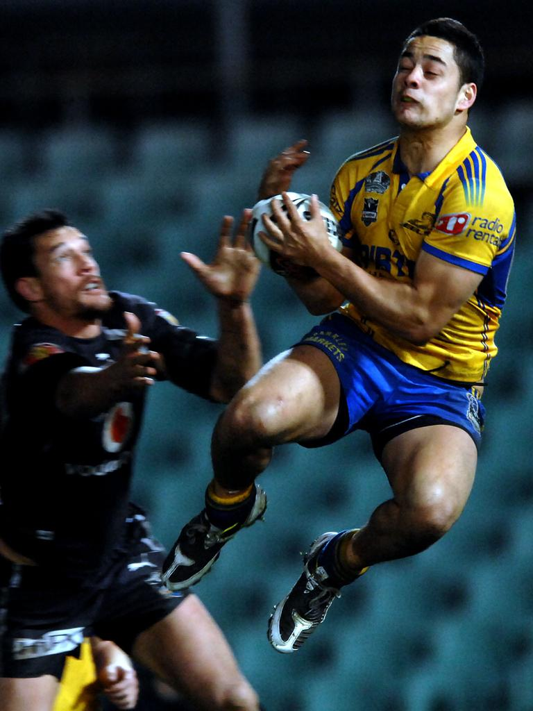 Hayne in his playing days with Parramatta. Picture: Jeremy Piper