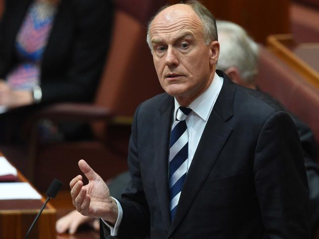 Liberal Tasmanian senator and former cabinet minister Eric Abetz. Picture: AAP
