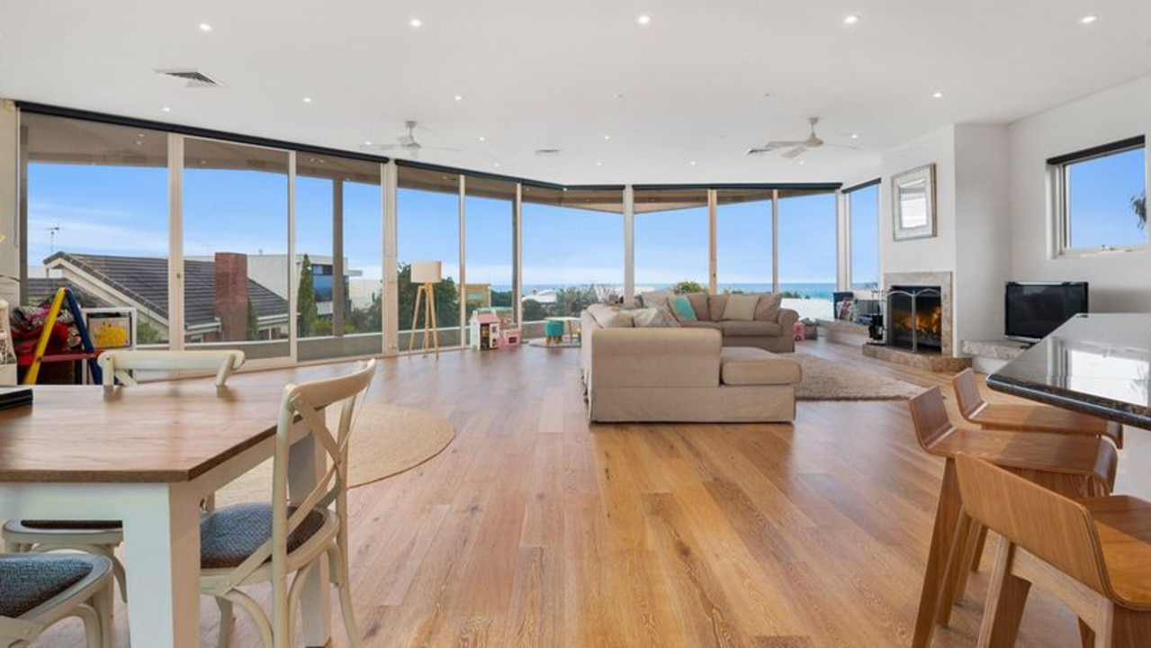 The house was designed to capture the view.