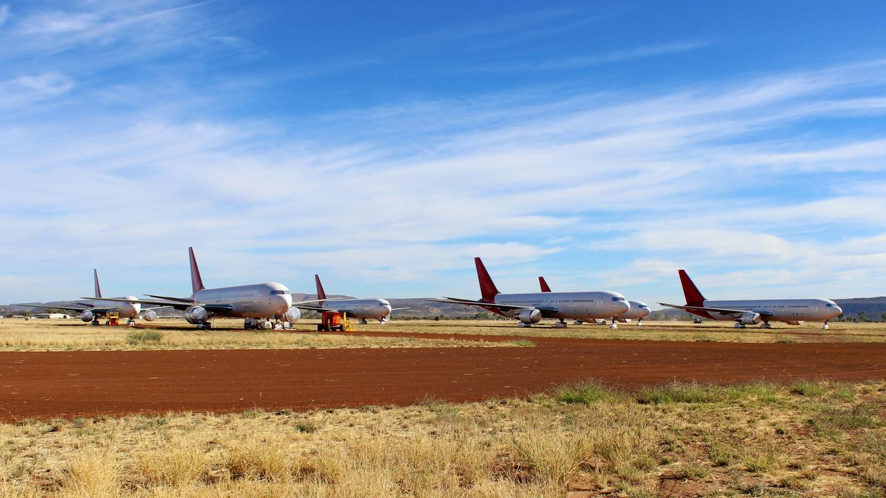 Asia Pacific Aircraft Storage in Alice Springs will be home to the grounded SilkAir MAX 8 aircraft. Picture: Asia Pacific Aircraft Storage