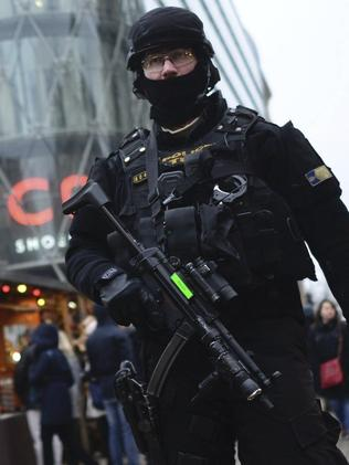 Security has been stepped up at Christmas markets across the capital. Picture: Janos Marjai/MTI via AP