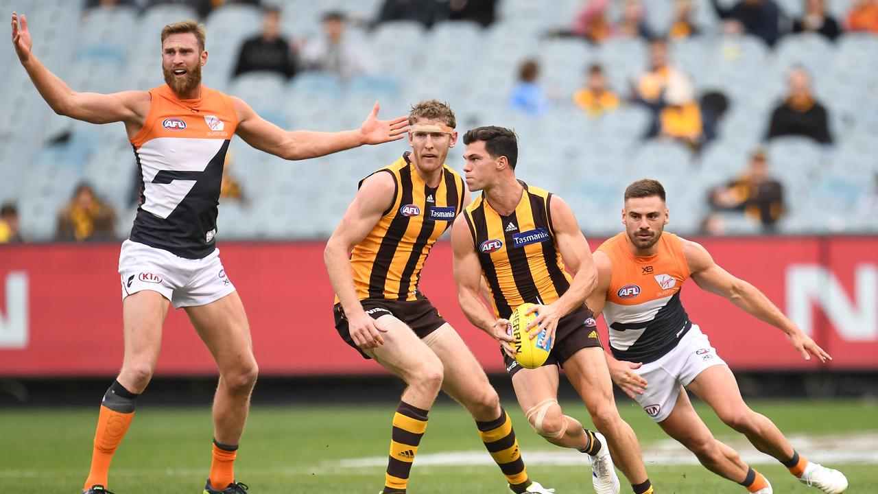 Hawthorn upset GWS on Sunday - not that too many people were there to see it. (AAP Image/Julian Smith)