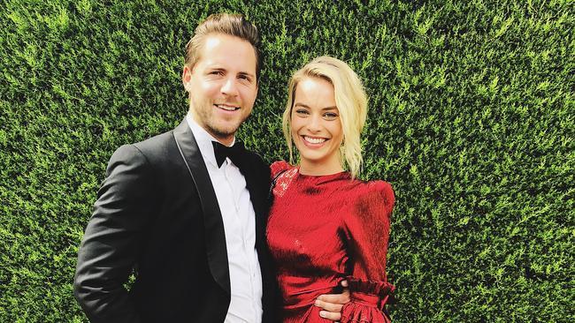 Margot Robbie and husband Tom Ackerley attend a friend's wedding in Australia on Friday. Photo: Instagram