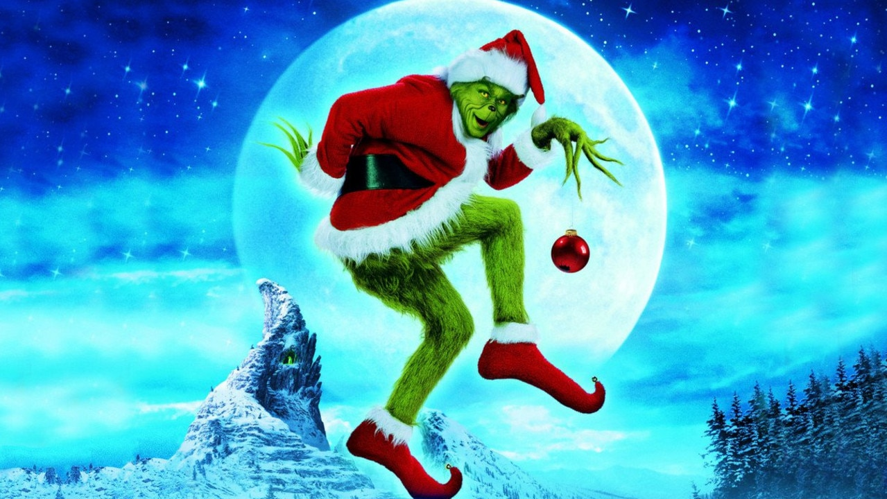 Jim Carrey stars in the movie the Grinch that Stole Christmas.