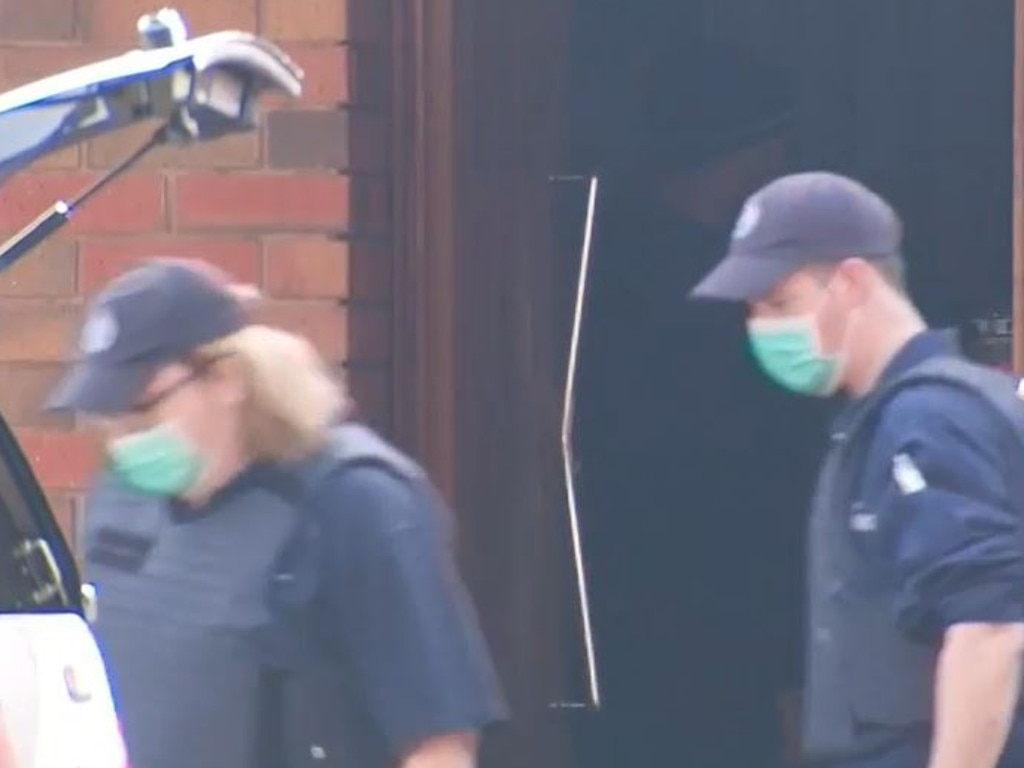 Police raided the East Bendigo property of Poots who admitted to launching a cyber-attack on Victoria Police systems. Credit: Nine News